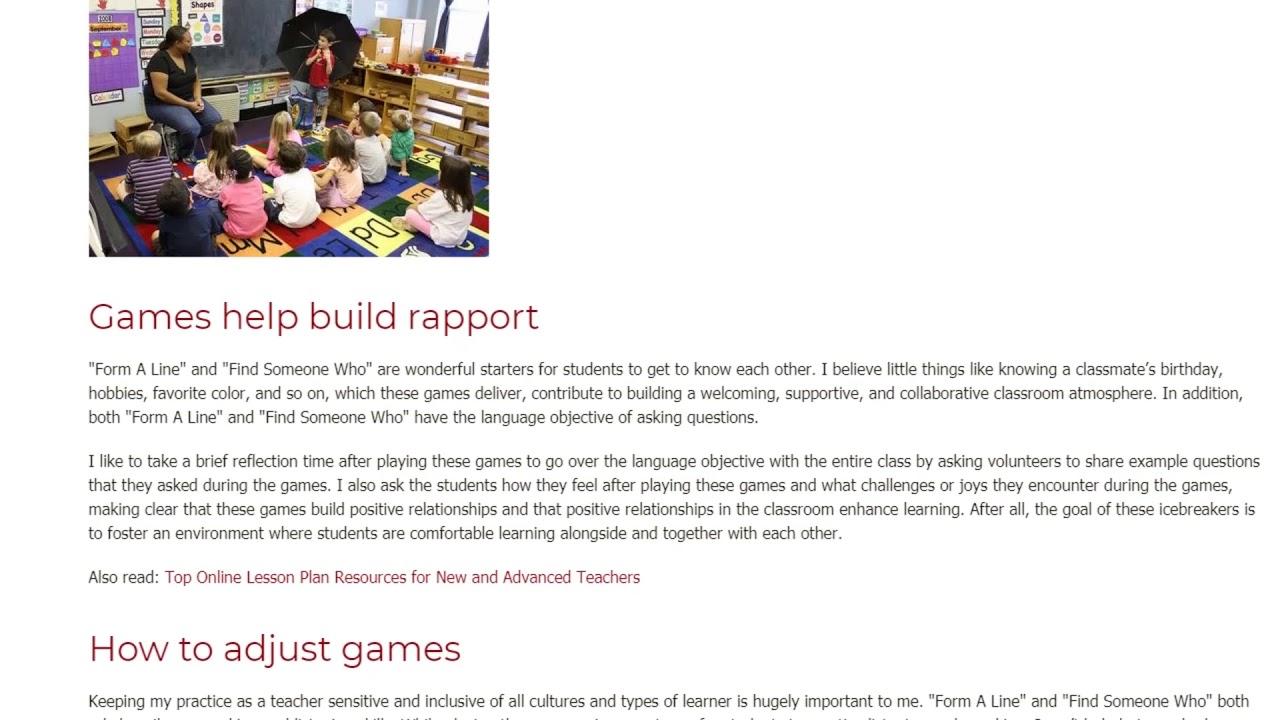 Game On – Using Icebreaker Games in the ESL Classroom | ITTT TEFL BLOG