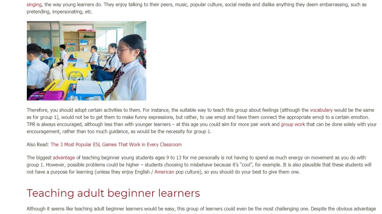 How to Adjust Your Teaching to the Needs of the Beginner Students   ITTT TEFL BLOG