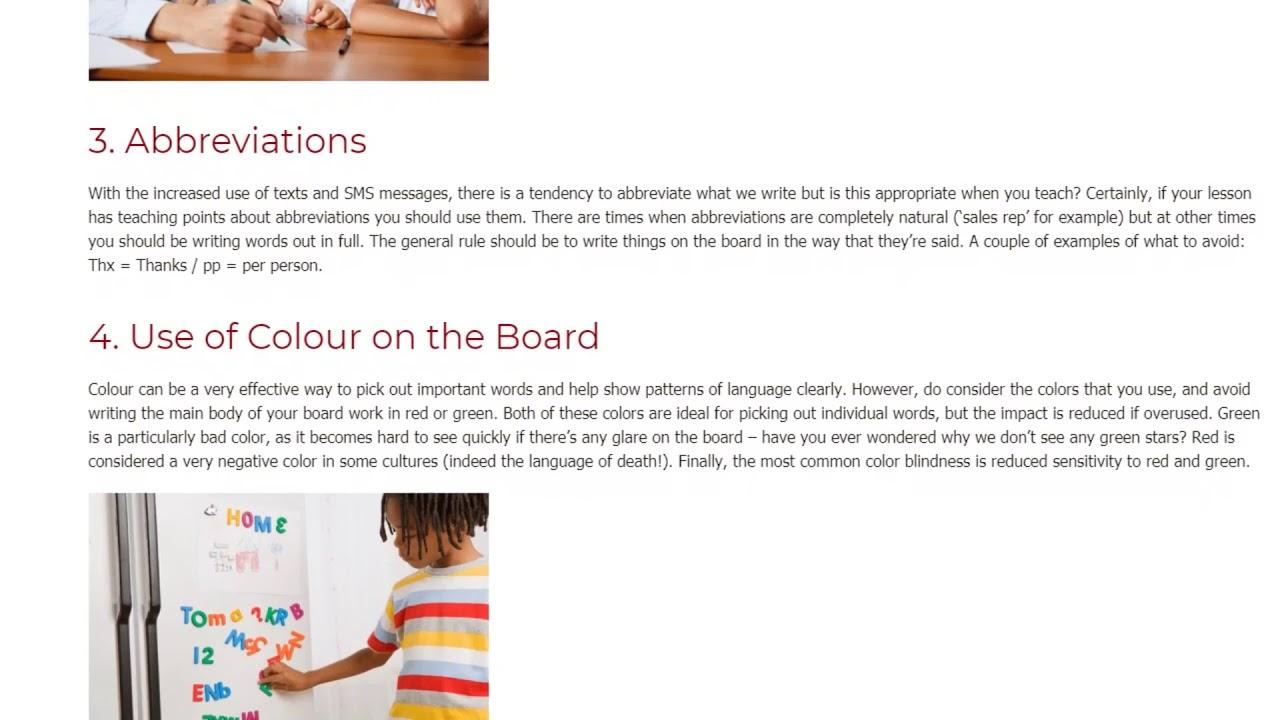 9 Small Details That Matter When Teaching EFL | ITTT TEFL BLOG