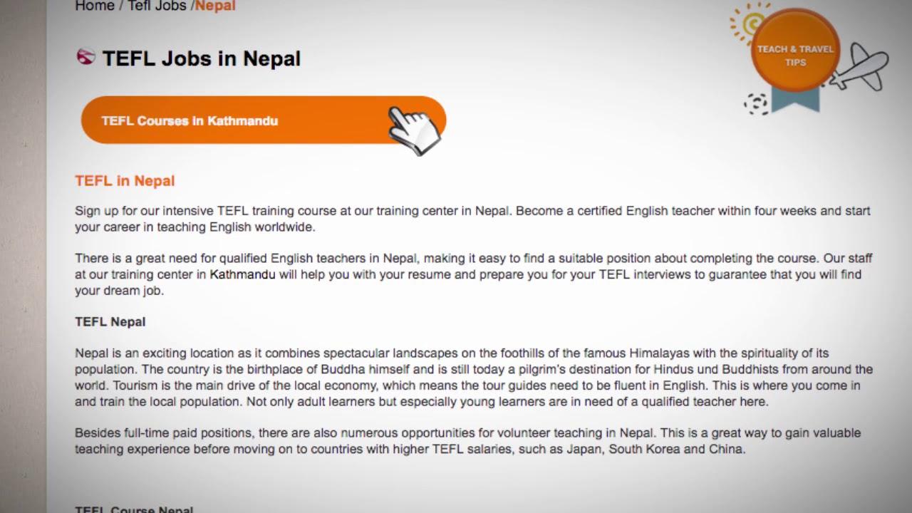 TEFL/TESOL Jobs in Nepal | International TEFL and TESOL Training (ITTT)