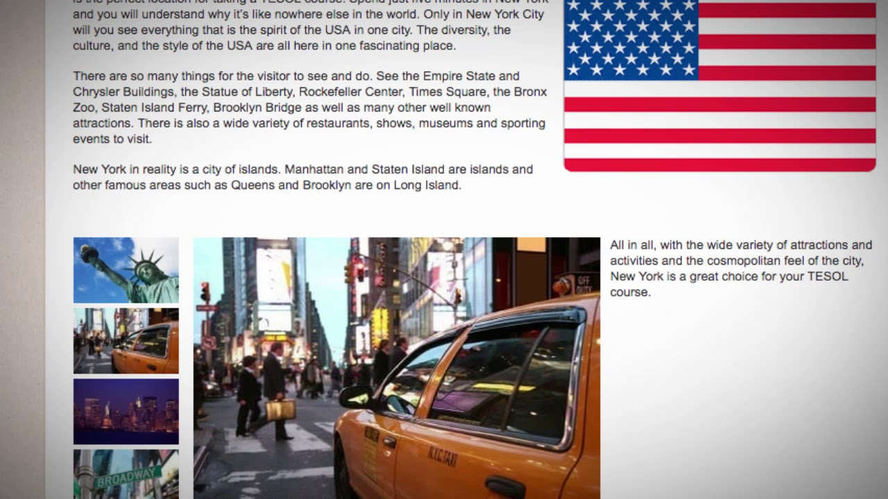8 Days Combined TEFL / TESOL School in New York, USA   Teach & Live abroad!