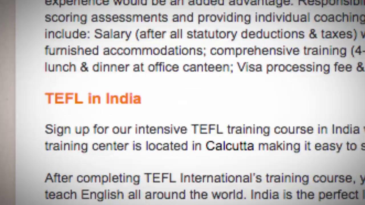 TEFL/TESOL Jobs in India | International TEFL and TESOL Training (ITTT)