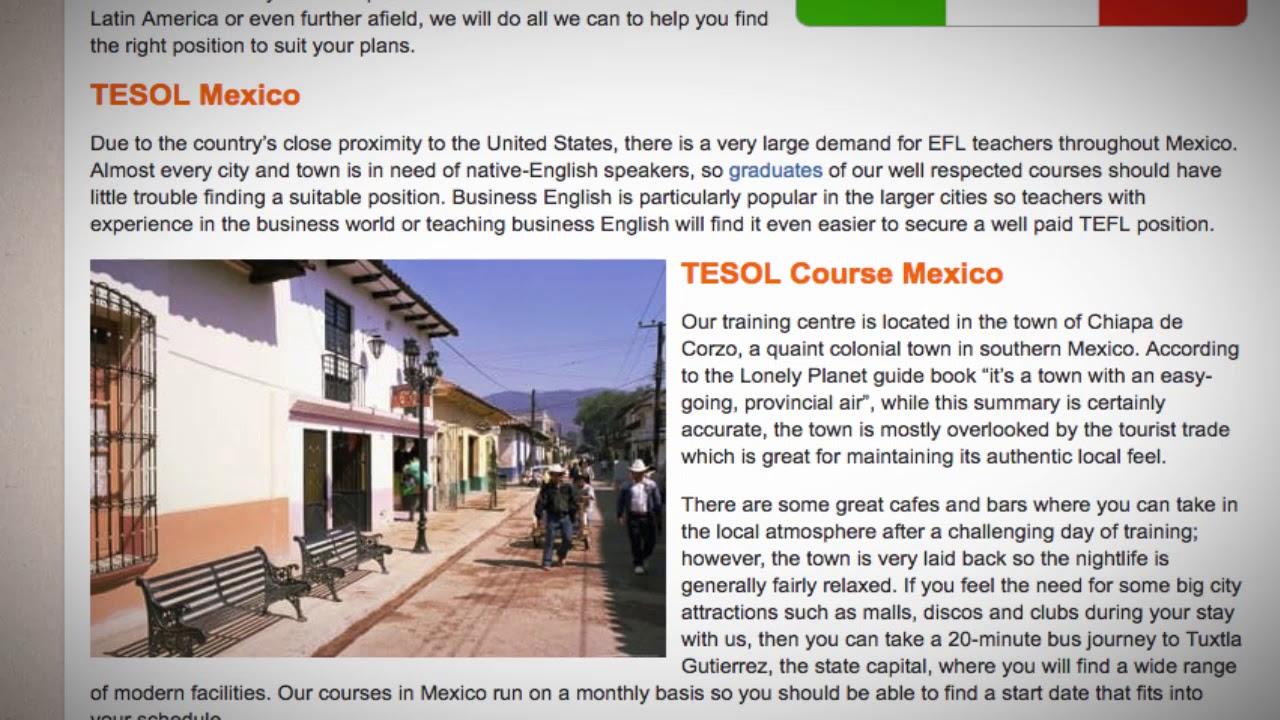 TEFL / TESOL Course in Mexico   Teach & Live abroad!