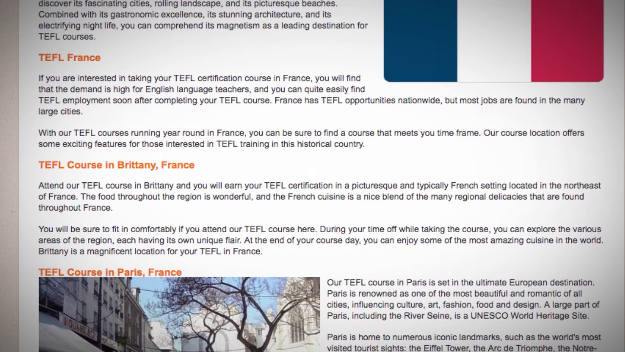 TESOL courses France