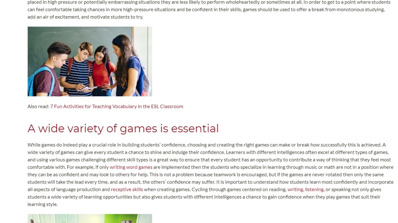 Why Classroom Games are Essential for Building Confidence | ITTT TEFL BLOG