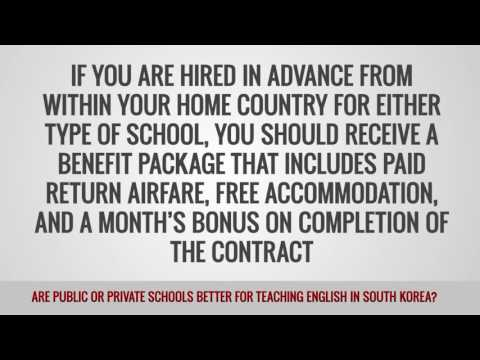 ITTT FAQs – Are public or private schools better for teaching English in South Korea?