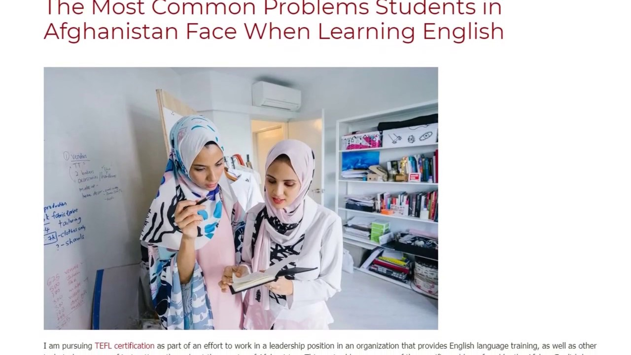 The Most Common Problems Students in Afghanistan Face When Learning English | ITTT TEFL BLOG