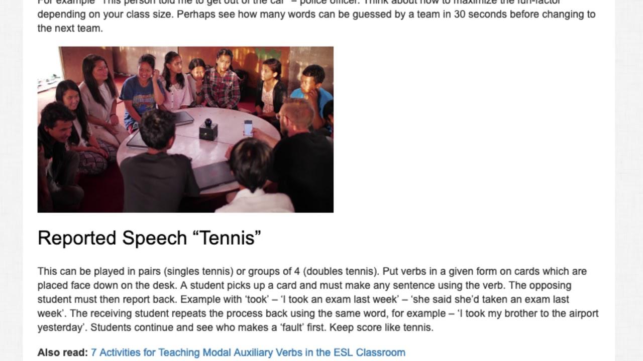 7 Activities for Teaching Reported Speech in the ESL Classroom | ITTT TEFL BLOG