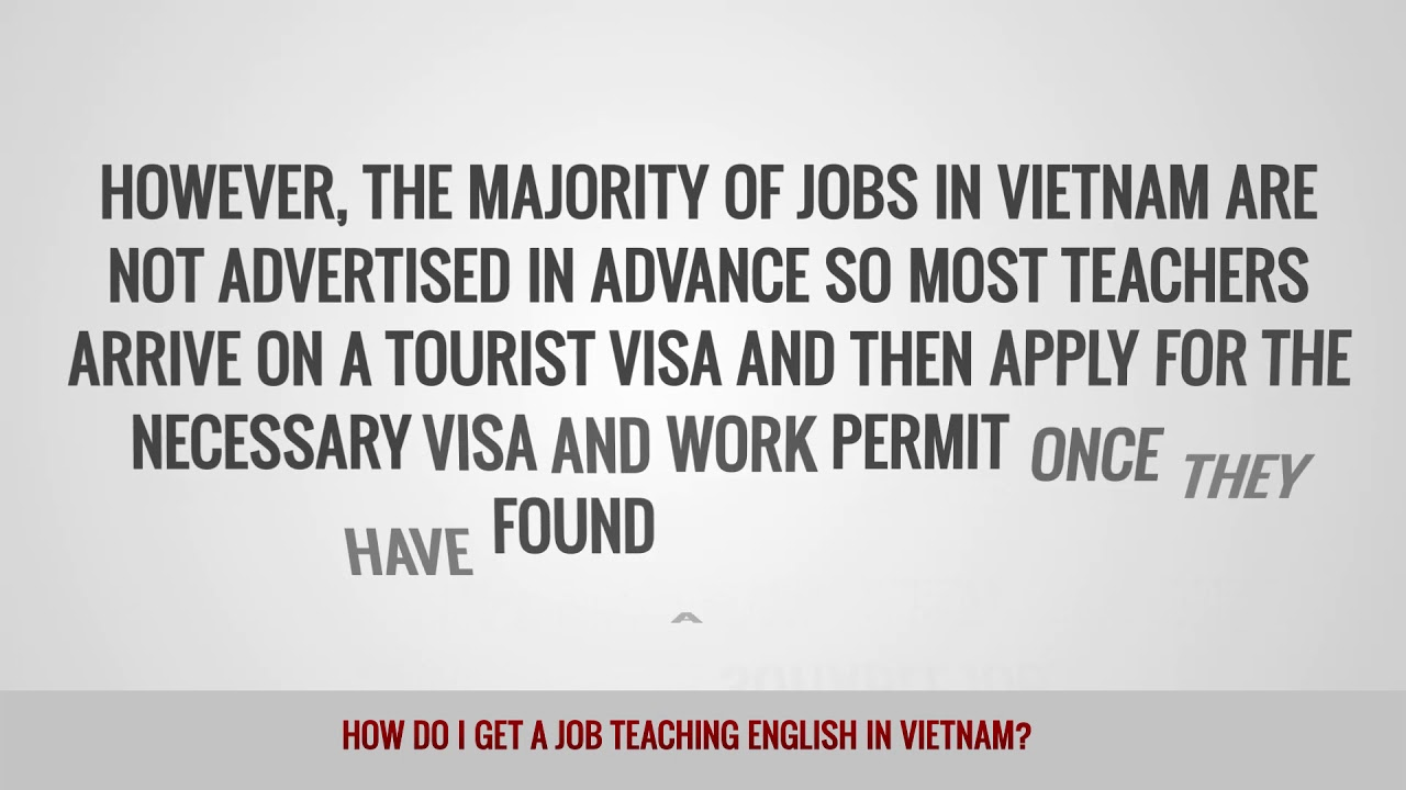 ITTT FAQs – How do I get a job teaching English in Vietnam?