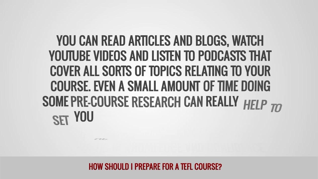 ITTT FAQs – How should I prepare for a TEFL course?
