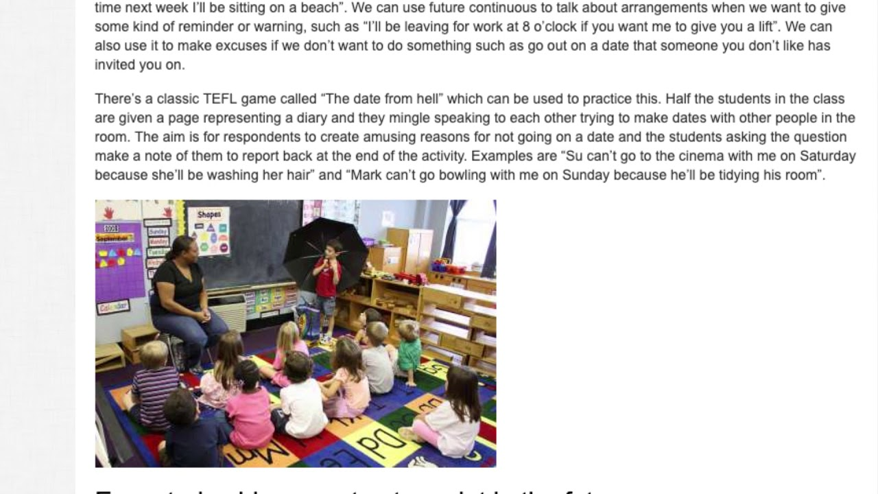 4 Activities for Teaching Future Tenses in the ESL Classroom | ITTT TEFL BLOG