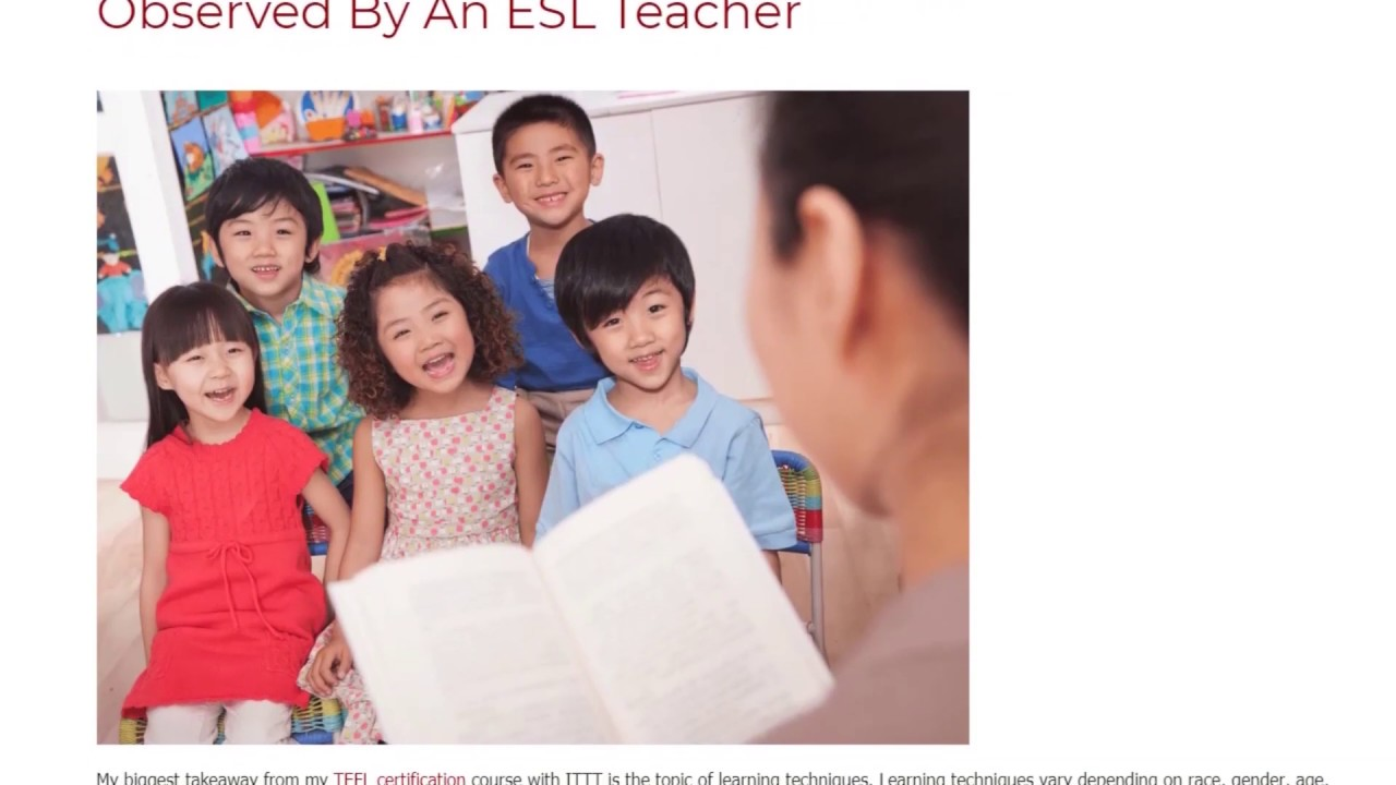 The Most Common Learning Techniques As Observed By An ESL Teacher | ITTT TEFL BLOG