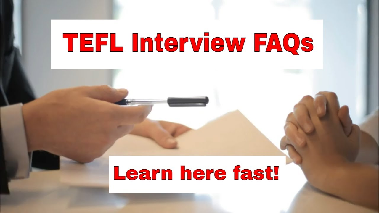 The Most Asked Question in a TEFL Interview – Do you have any questions?