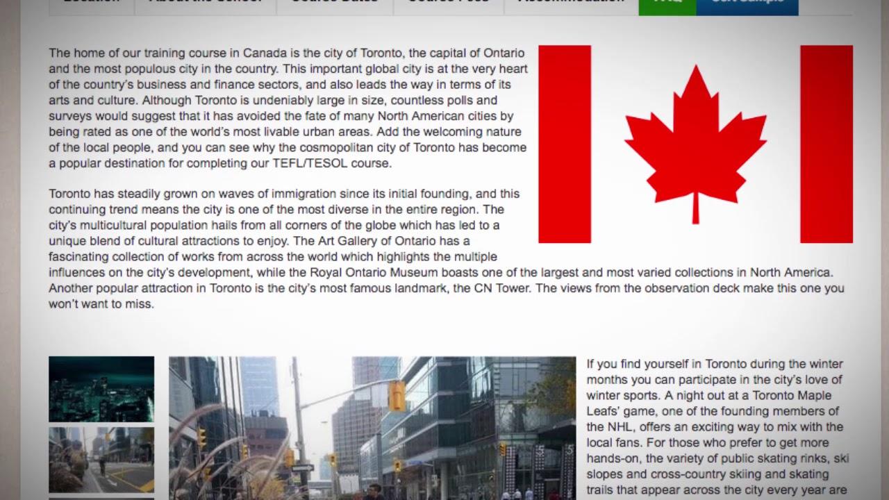 Combined TEFL / TESOL School in Toronto, Canada | Teach & Live abroad!