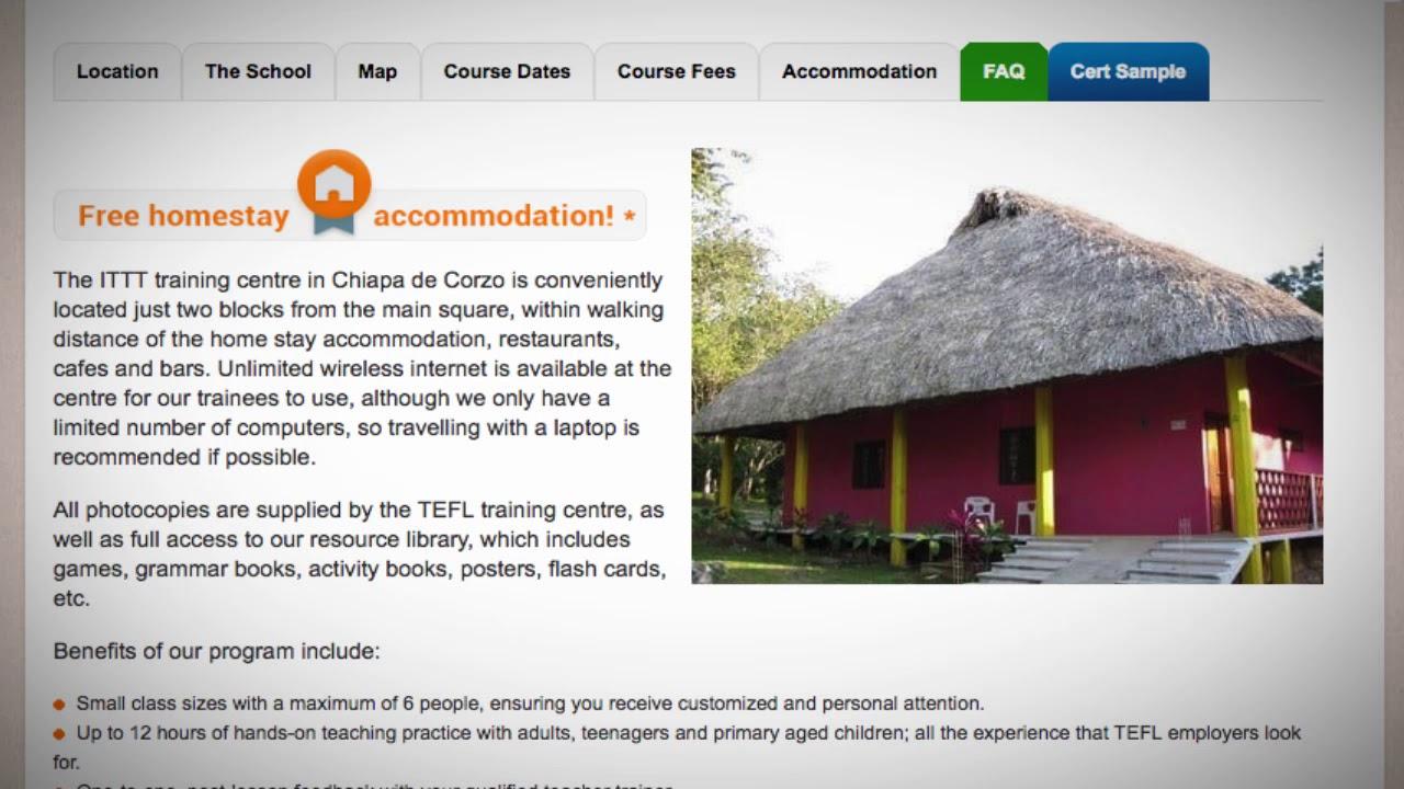 TEFL / TESOL School Accommodation in Chiapas, Mexico | Teach & Live abroad!