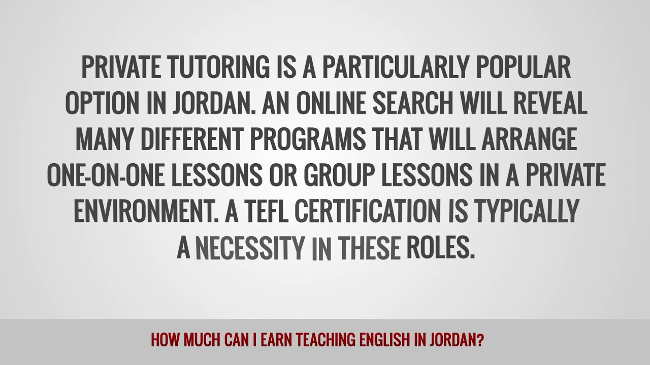 ITTT FAQs – How much can I earn teaching English in Jordan