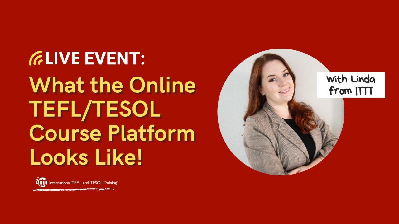 Live Look into TEFL/TESOL Online Course Platform