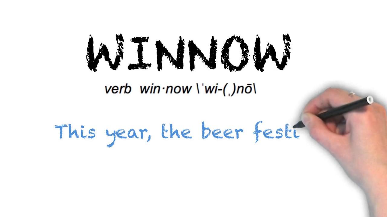 How To Pronounce 'WINNOW'   Ask Linda!   Pronunciation