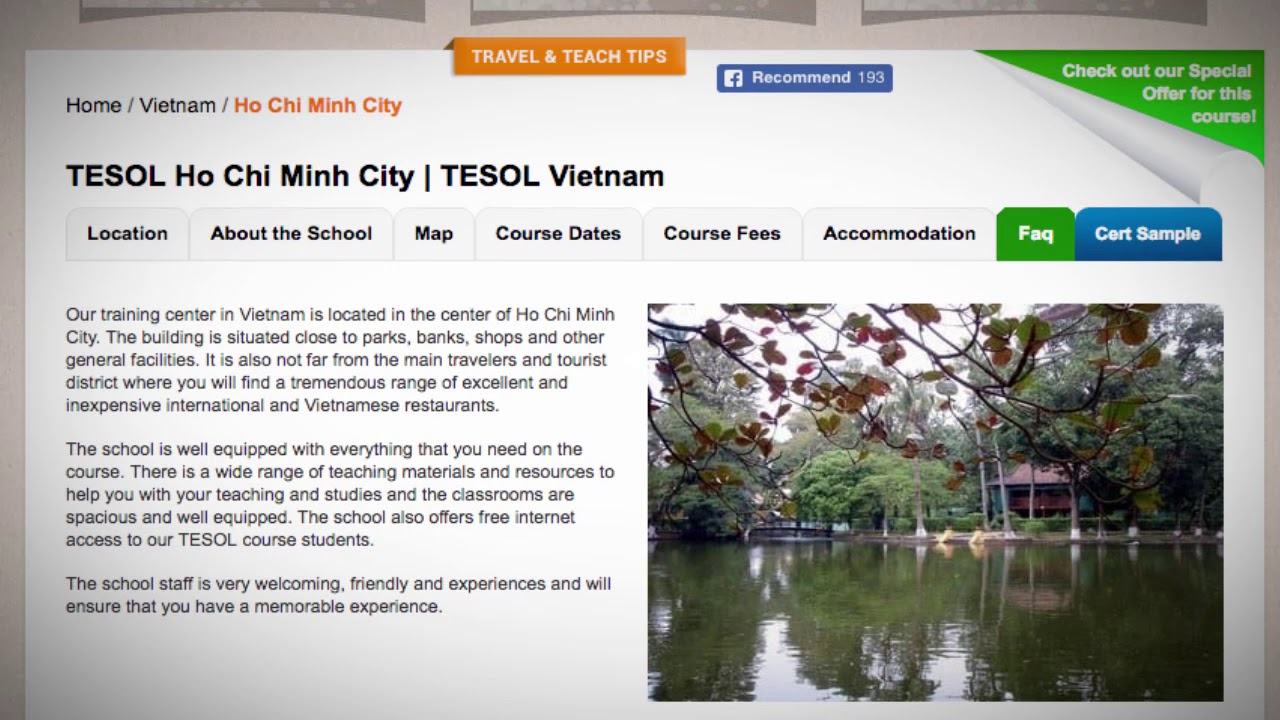 Welcome to Our TESOL School in Ho Chi Minh, Vietnam | Teach & Live abroad!