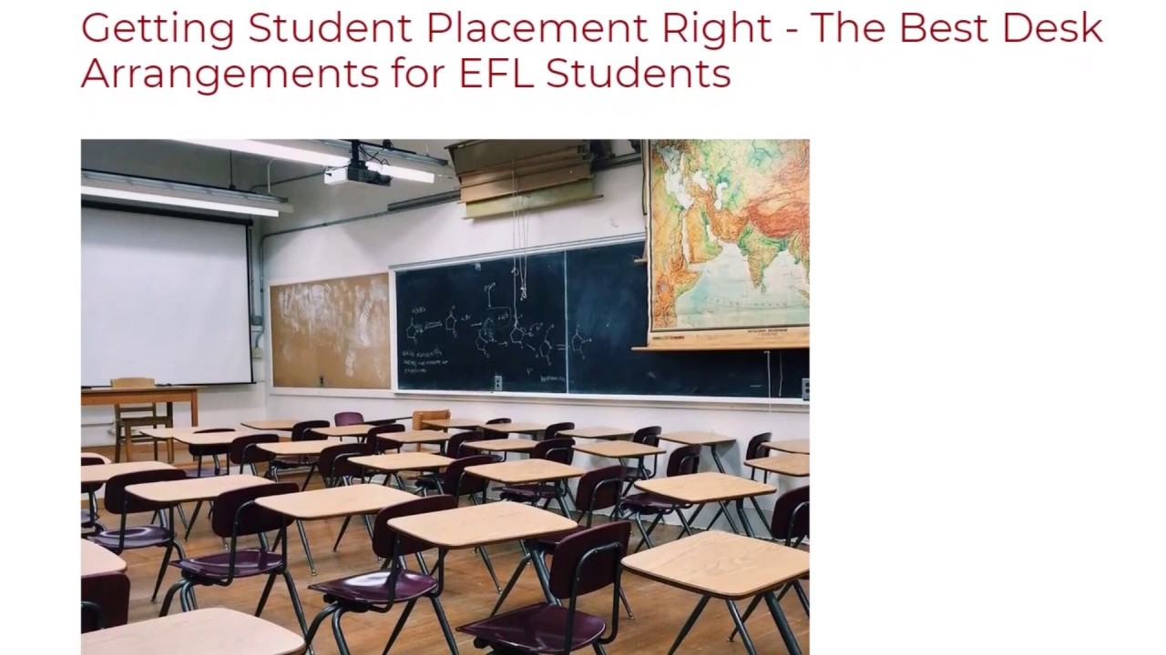 Getting Student Placement Right – The Best Desk Arrangements for EFL Students | ITTT TEFL BLOG