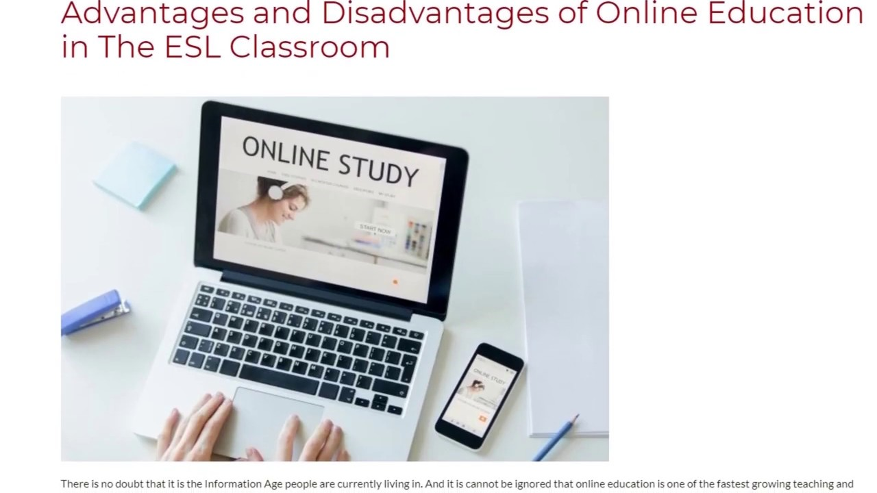 Advantages and Disadvantages of Online Education in The ESL Classroom | ITTT TEFL BLOG