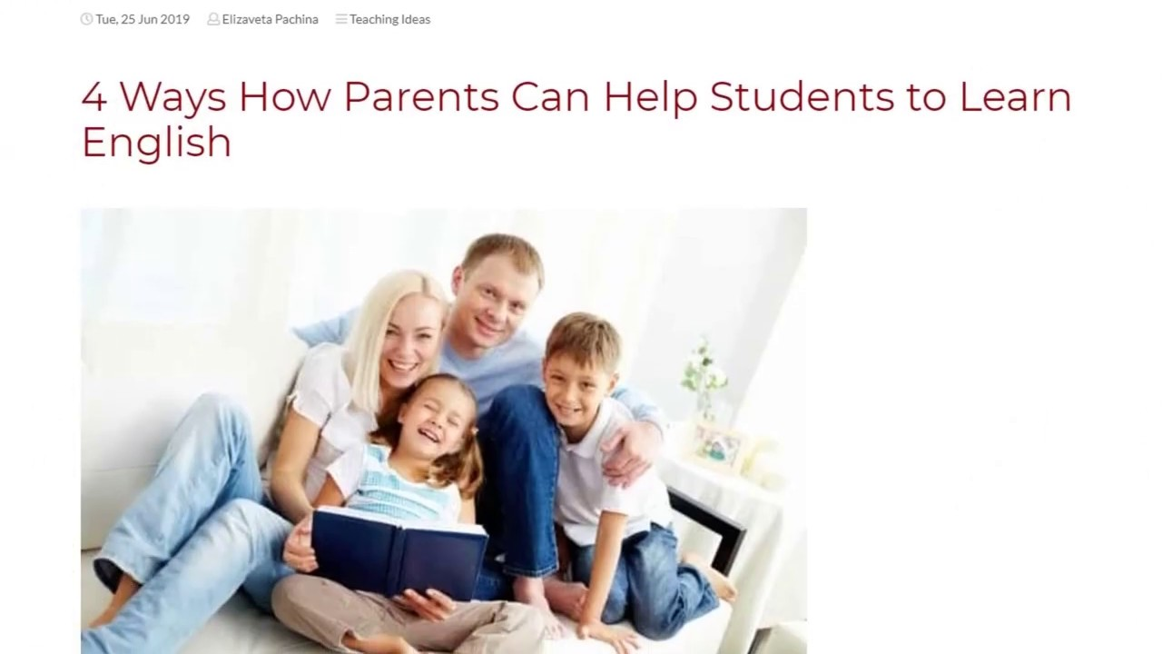 4 Ways How Parents Can Help Students to Learn English | ITTT TEFL BLOG