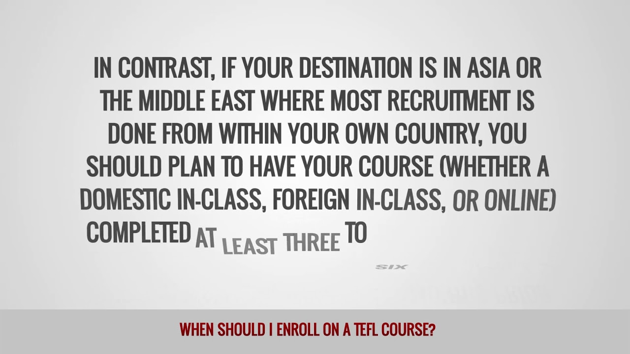 ITTT FAQs – When should I enroll for a TEFL course?