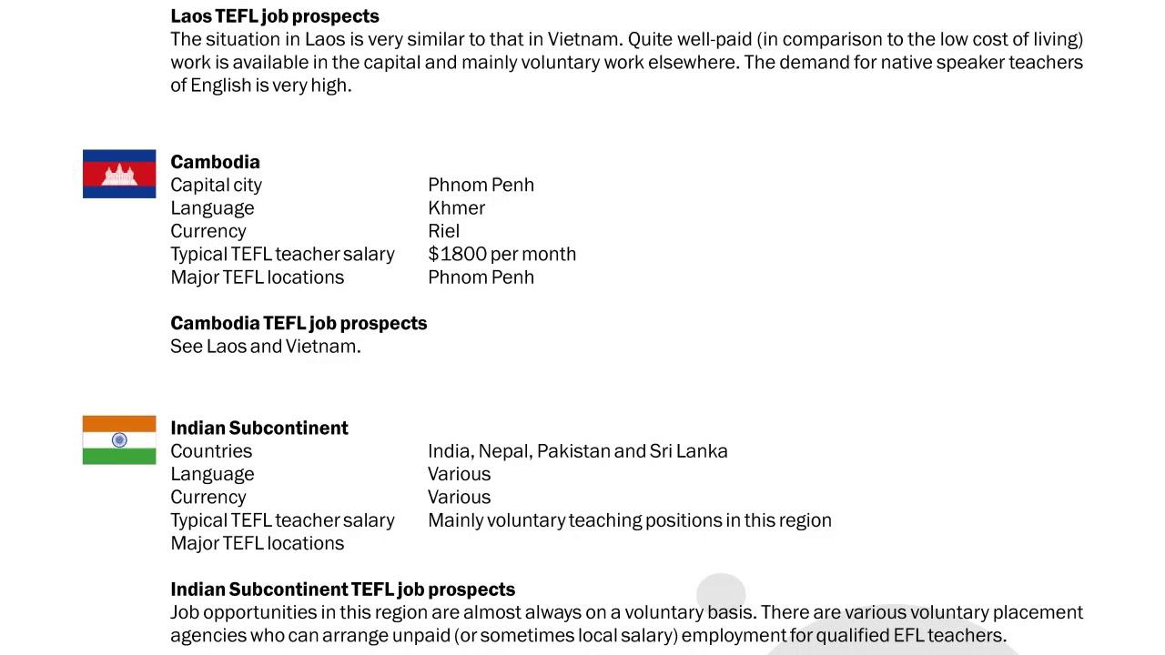 TEFL/TESOL Guide – Laos, Cambodia & India | International TEFL and TESOL Training (ITTT)