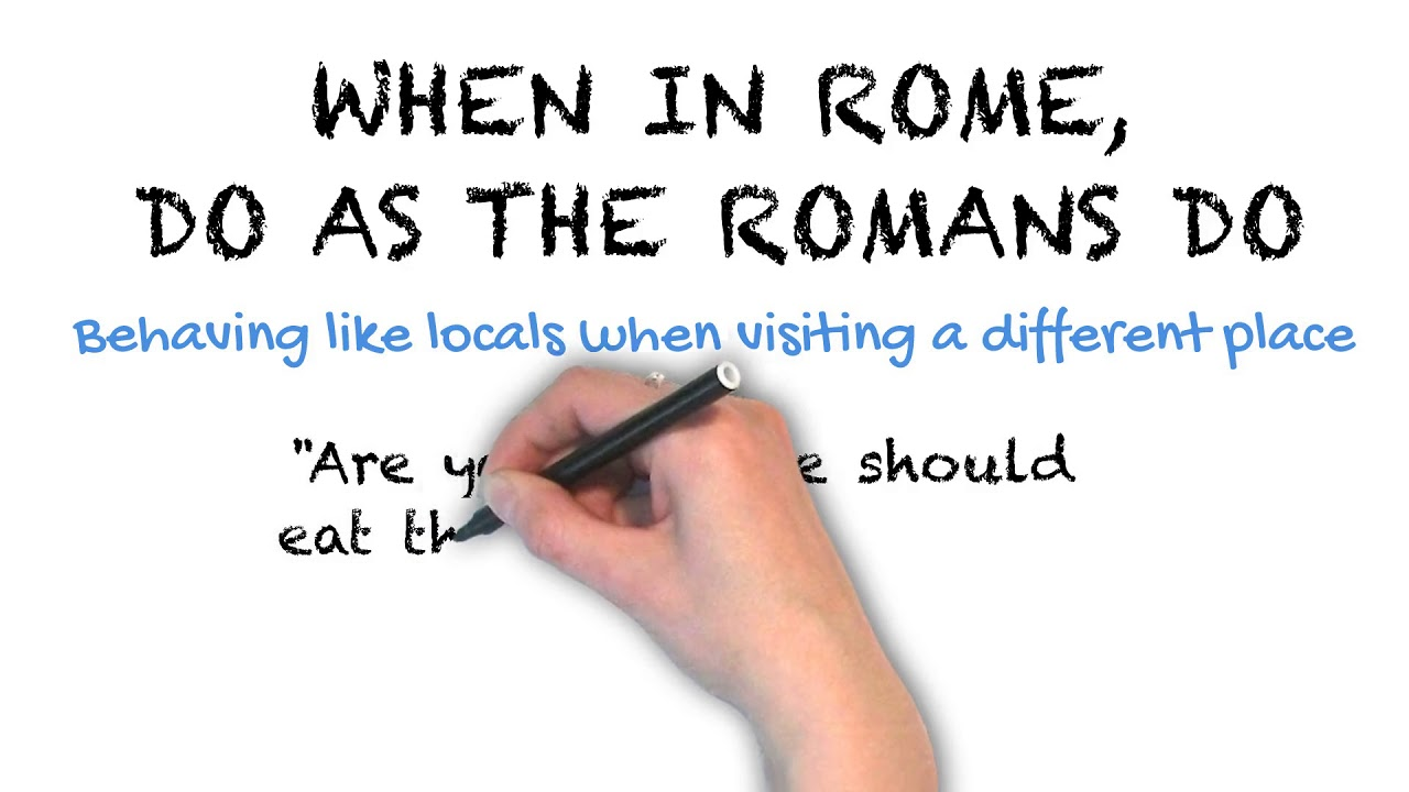 When in Rome | Ask Linda! | Idioms