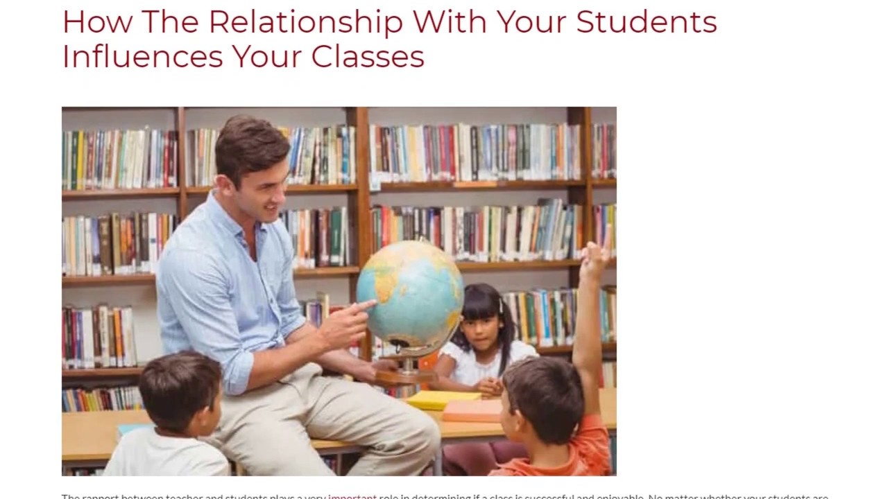 How The Relationship With Your Students Influences Your Classes | ITTT TEFL BLOG