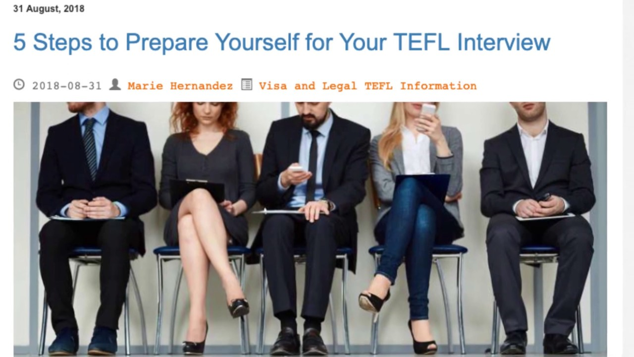 5 Steps to Prepare Yourself for Your TEFL Interview | ITTT TEFL BLOG