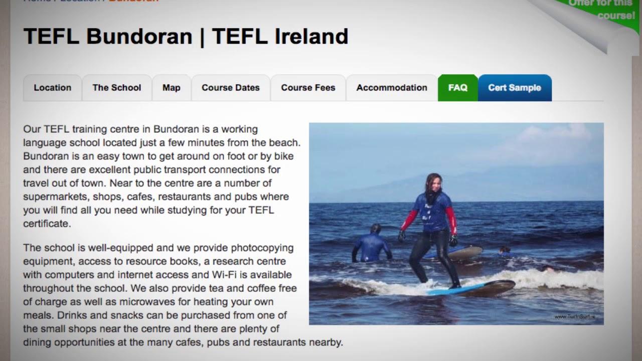 Welcome to Our TEFL / TESOL School in Bundoran, Ireland   Teach & Live abroad!