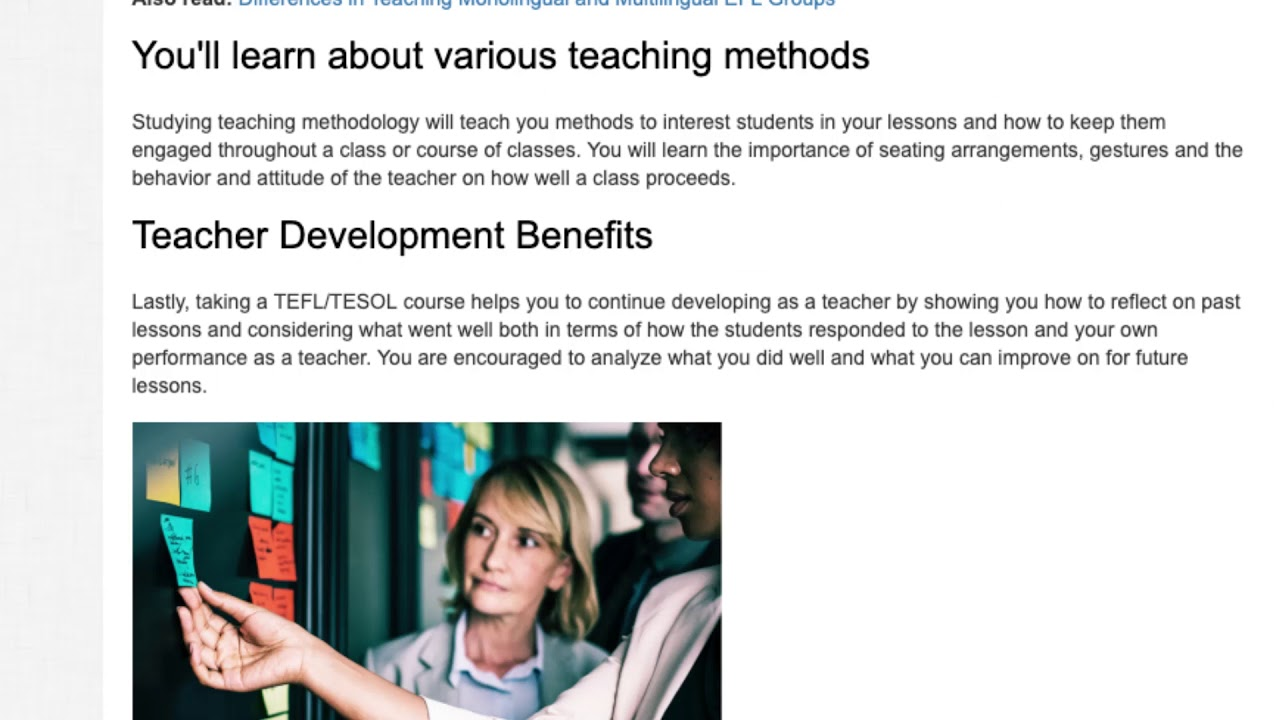 Why Taking a TEFL Course Is Highly Beneficial | ITTT TEFL BLOG