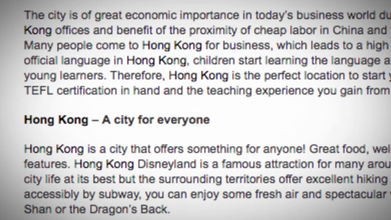 Hong Kong jobs