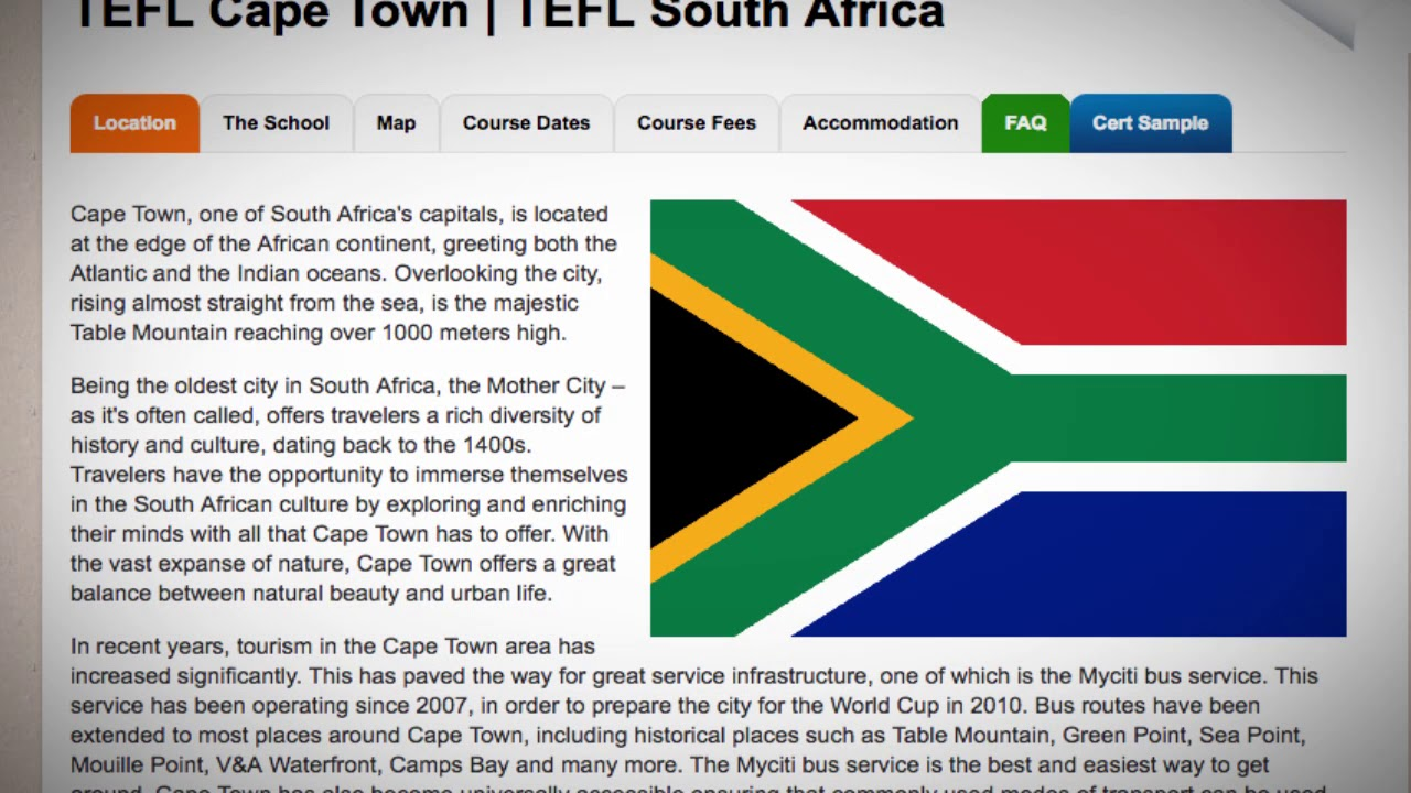 TEFL / TESOL Course in Cape Town, South Africa | Teach & Live abroad!
