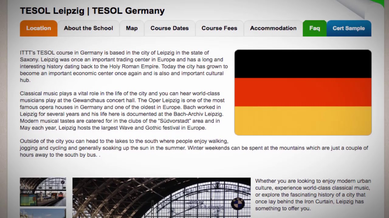 TESOL Course in Leizig, Germany | Teach & Live abroad!