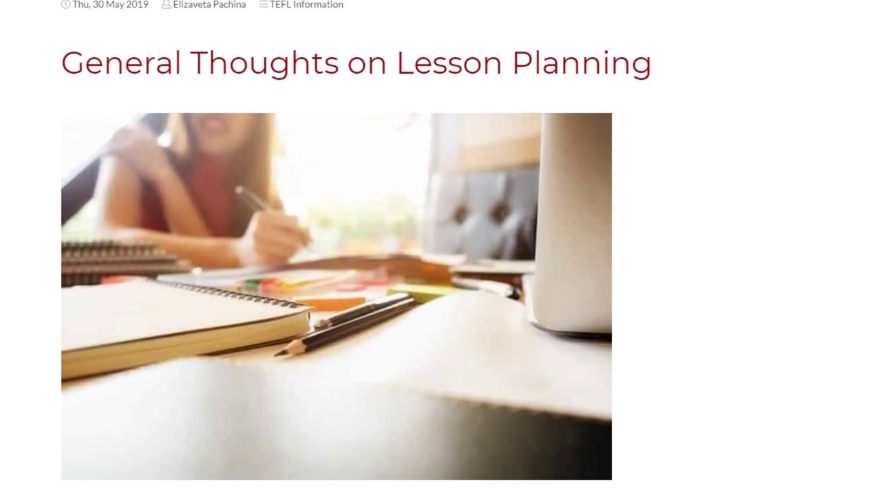 General Thoughts on Lesson-Planning   ITTT TEFL BLOG
