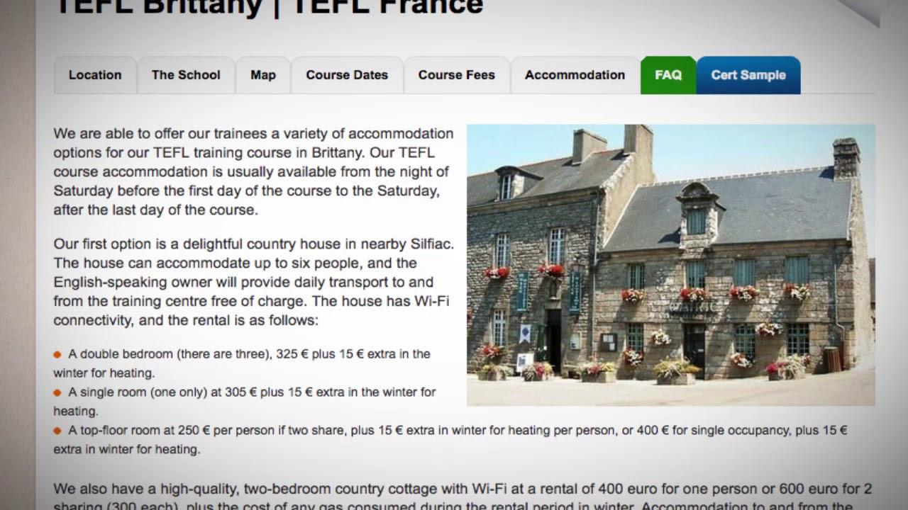 TEFL / TESOL School Accommodation in Brittany, France | Teach & Live abroad!