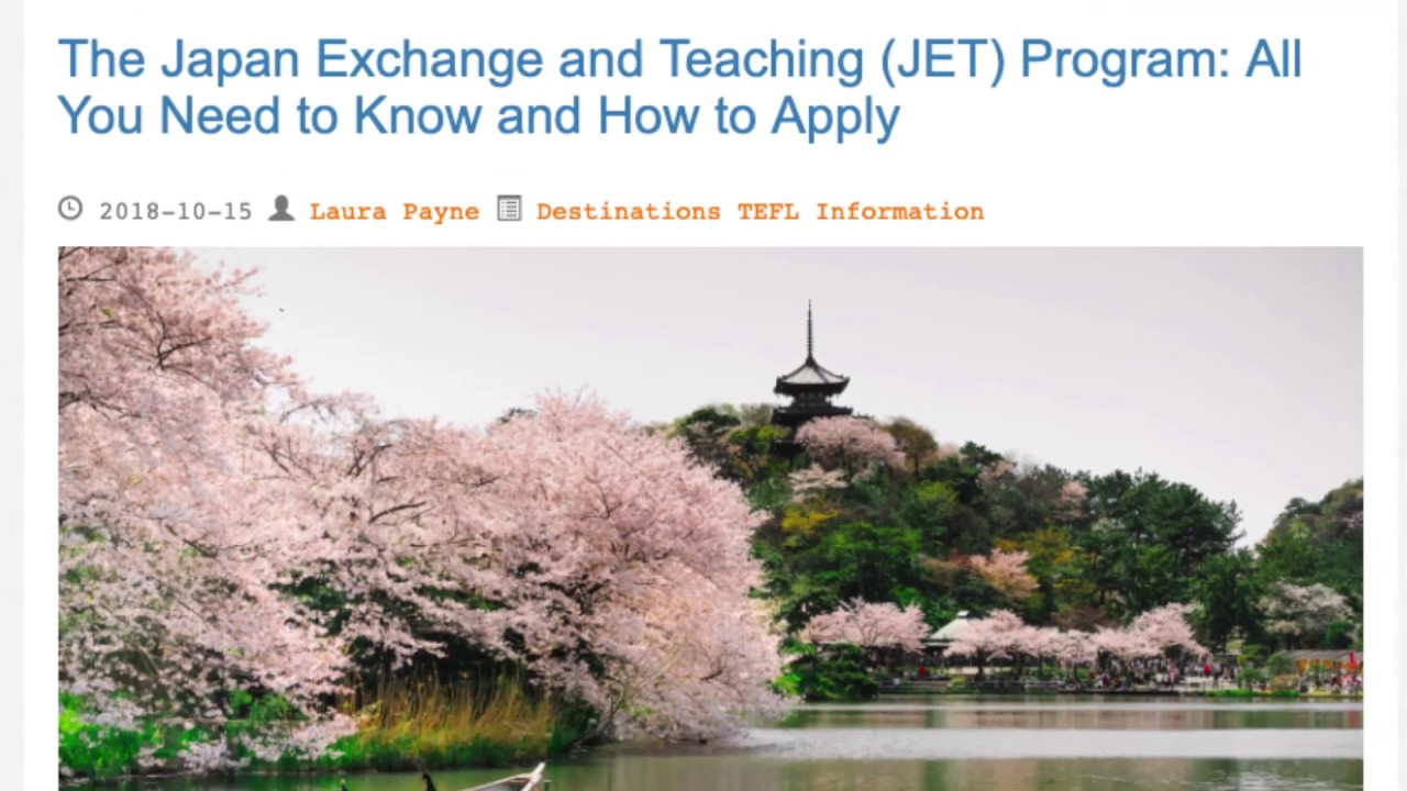 The Japan Exchange and Teaching (JET) Program: All You Need to Know | ITTT TEFL BLOG