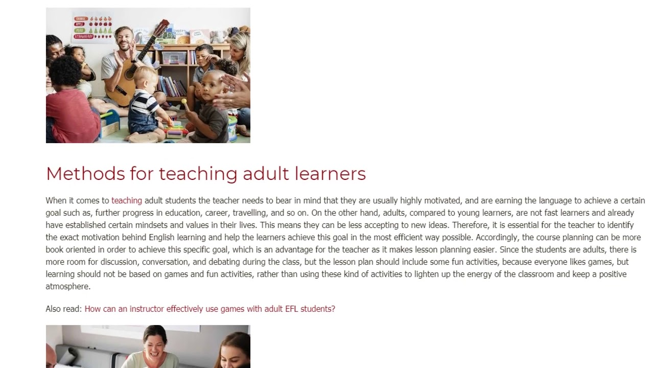 How to Teach Young Learners vs How to Teach Adults | ITTT TEFL BLOG