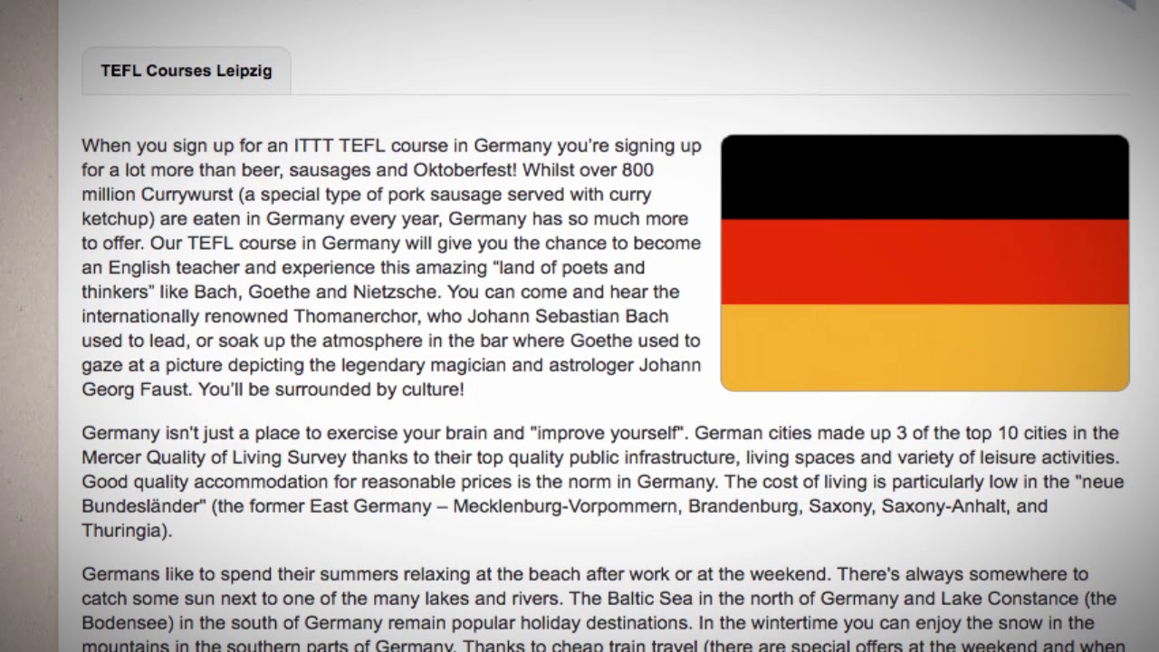 TEFL / TESOL Course in Germany | Teach & Live abroad!
