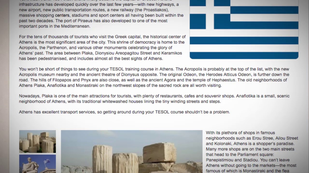 TESOL Course in Athens, Greece | Teach & Live abroad!