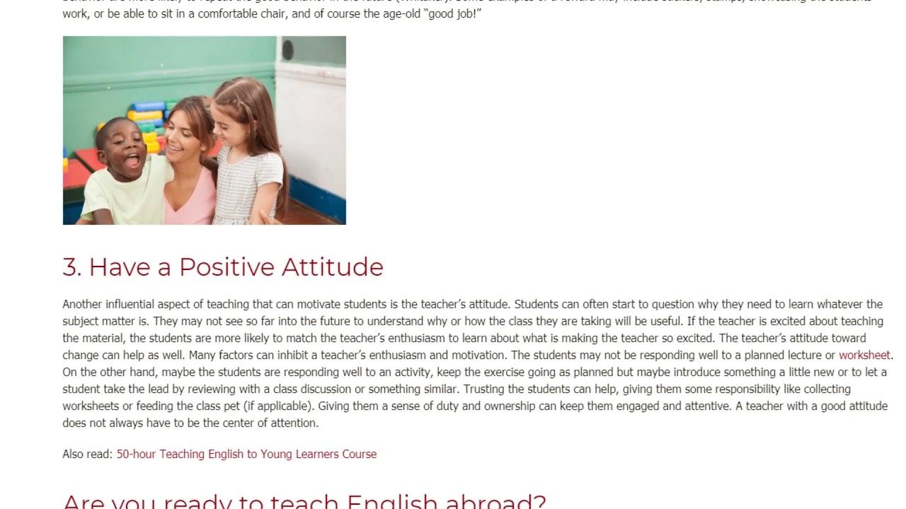 3 Easy Ways to Motivate Students   ITTT TEFL BLOG