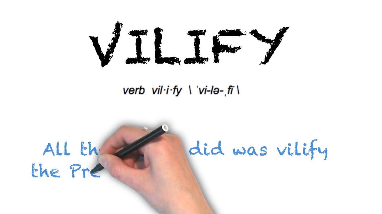 How To Pronounce 'VILIFY' | Ask Linda! | Pronunciation