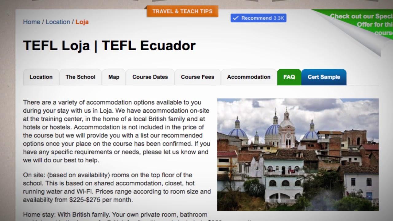 TEFL / TESOL School Accommodation in Loja, Ecuador | Teach & Live abroad!