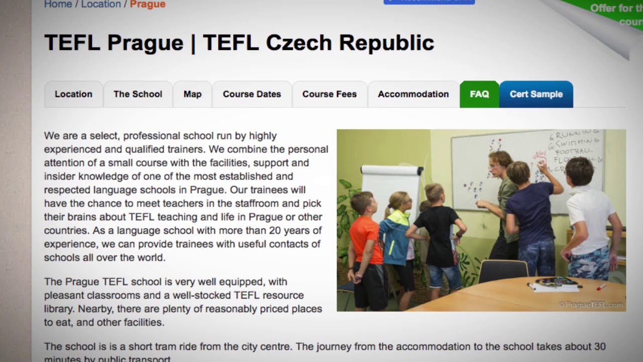 Welcome to Our TEFL / TESOL School in Prague, Czech Republic | Teach & Live abroad!