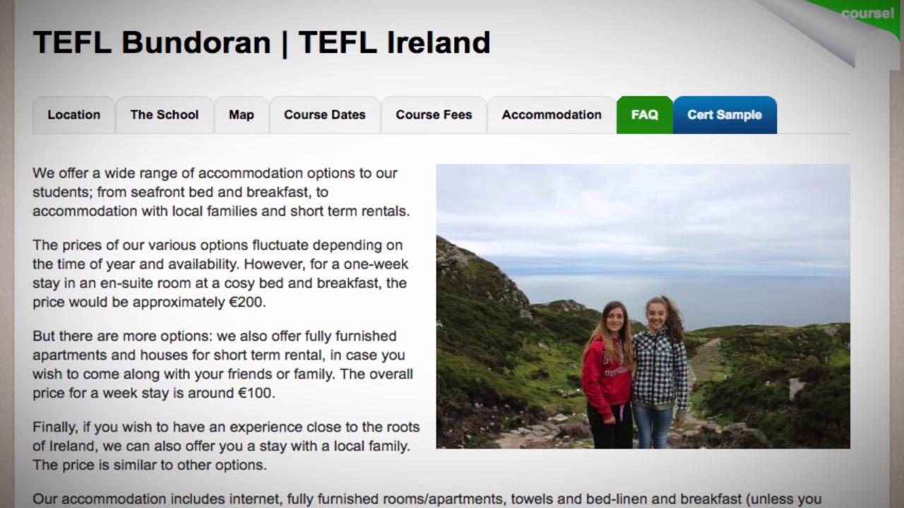 TEFL / TESOL School Accommodation in Bundoran, Ireland   Teach & Live abroad!