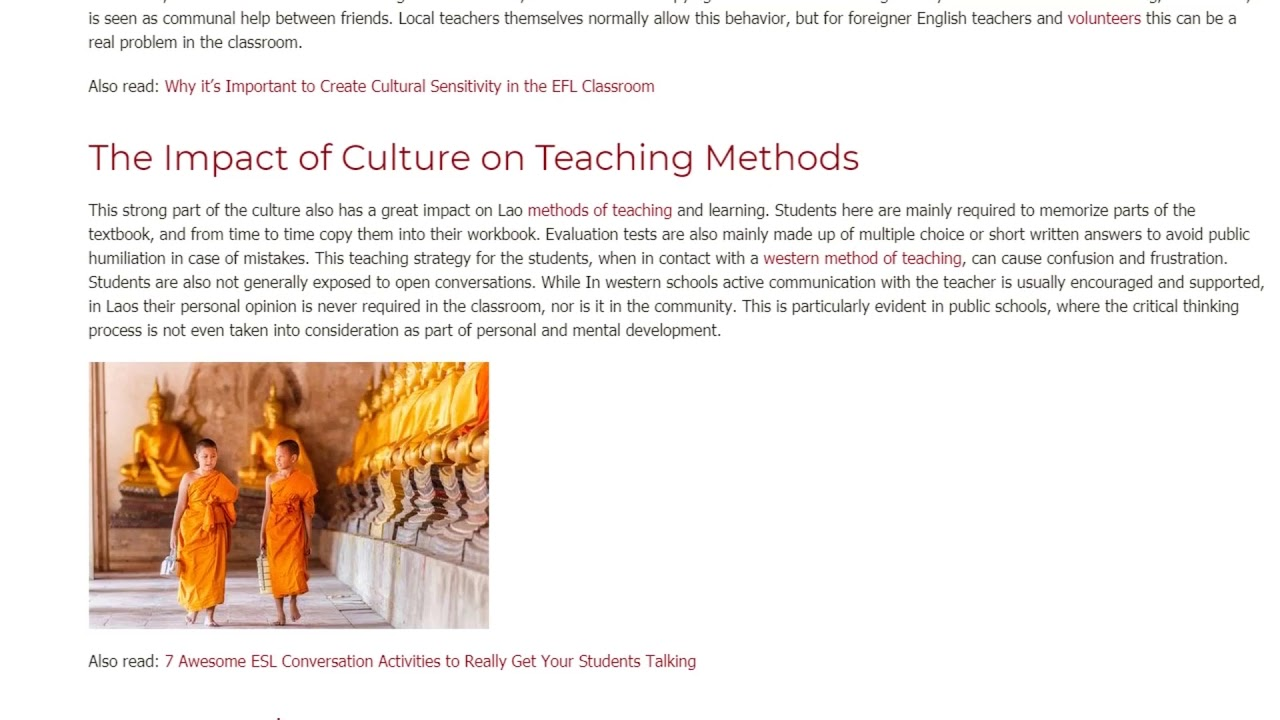 The Impact of Local Culture on Education in Laos | ITTT TEFL BLOG