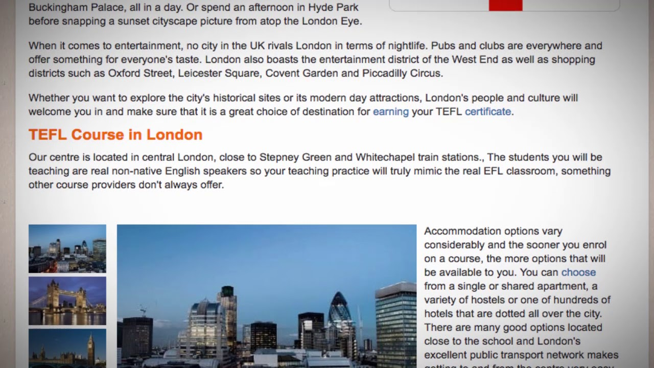 TEFL / TESOL Course in London, United Kingdom | Teach & Live abroad!