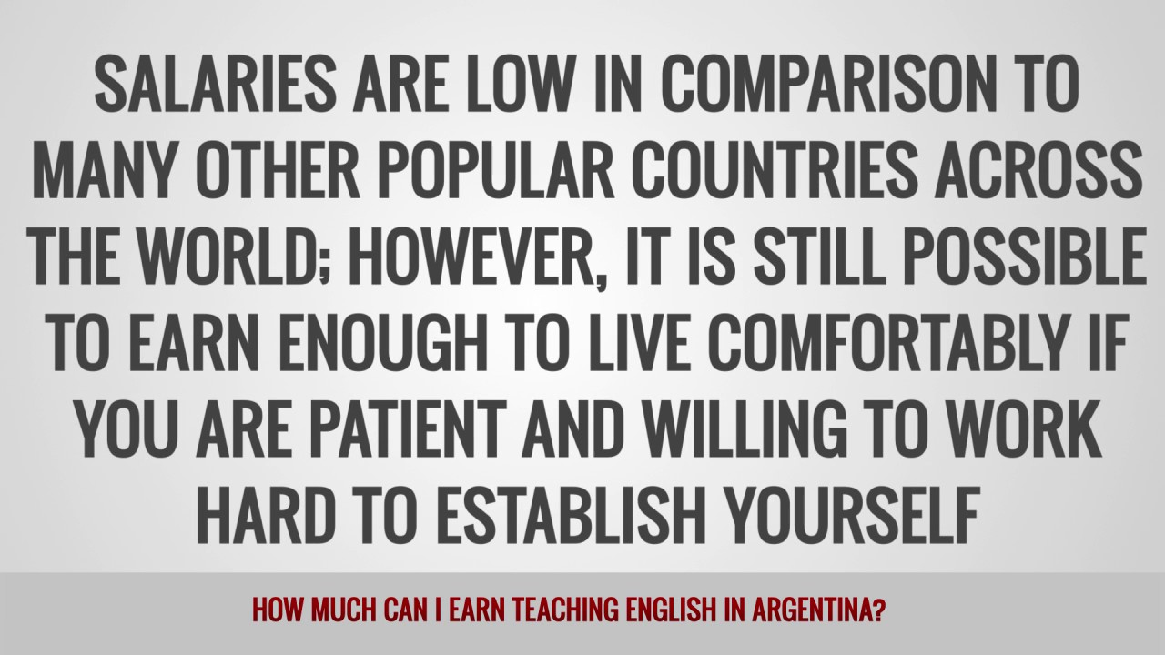 ITTT FAQs – How much can I earn teaching English in Argentina?